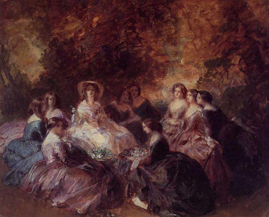 The Empress Eugenie Surrounded by her Ladies in Waiting - Franz Xaver Winterhalter