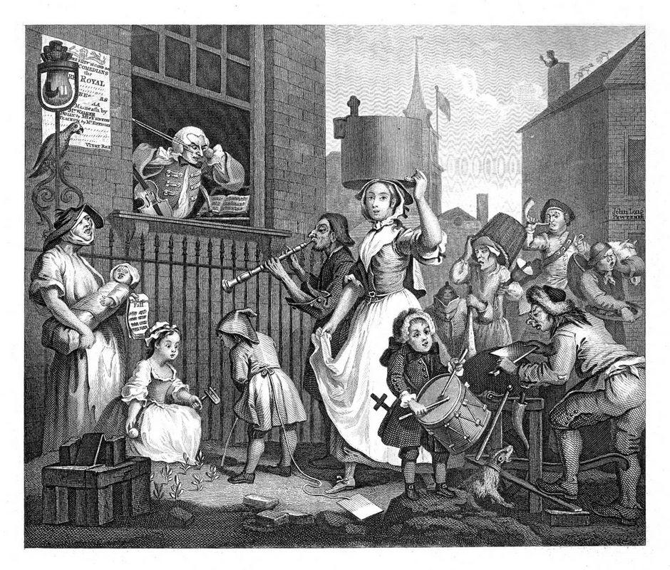 The Enraged Musician - William Hogarth