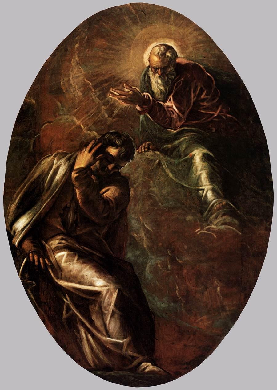 The Eternal Father Appears to Moses - Tintoretto