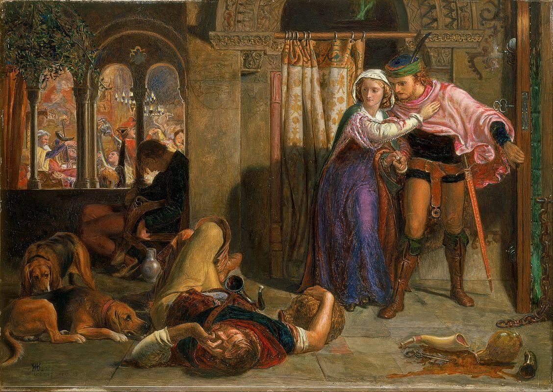The Eve of Saint Agnes  - William Holman Hunt