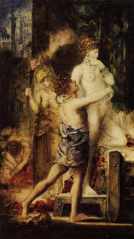 The Execution of Messalina - Gustave Moreau