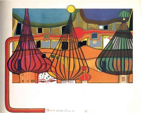 656 The Expulsion - Friedensreich Hundertwasser