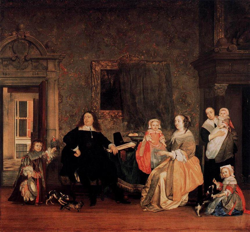 The Family of Jan Jacobsz Hinlopen - Gabriel Metsu
