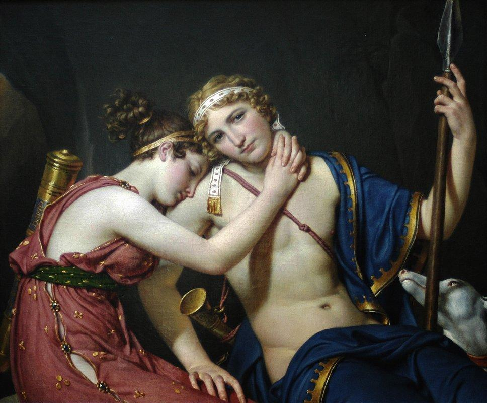 The Farewell of Telemachus and Eucharis - Jacques-Louis David