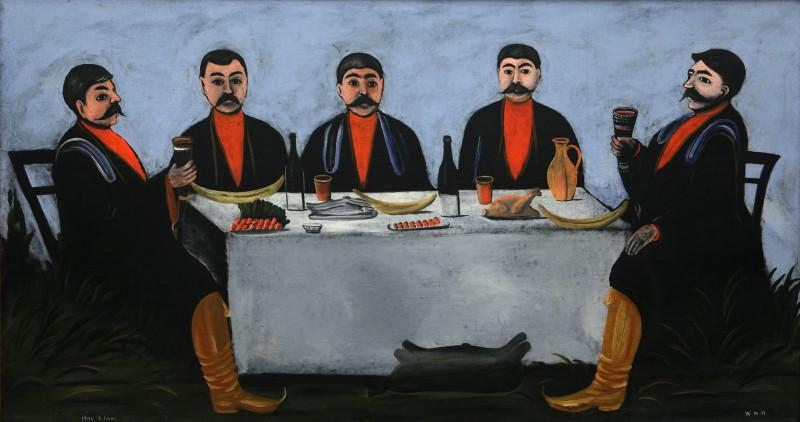 The Feast of Five Princes - Niko Pirosmani