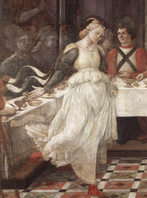 The Feast of Herod: Salome's Dance (detail) - Filippo Lippi