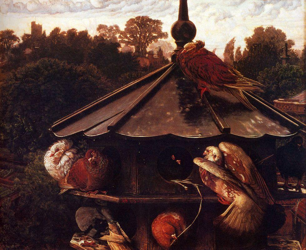 The Festival of St. Swithin or The Dovecote - William Holman Hunt
