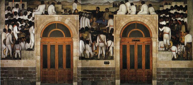 The Festival of The Distribution of The Land - Diego Rivera