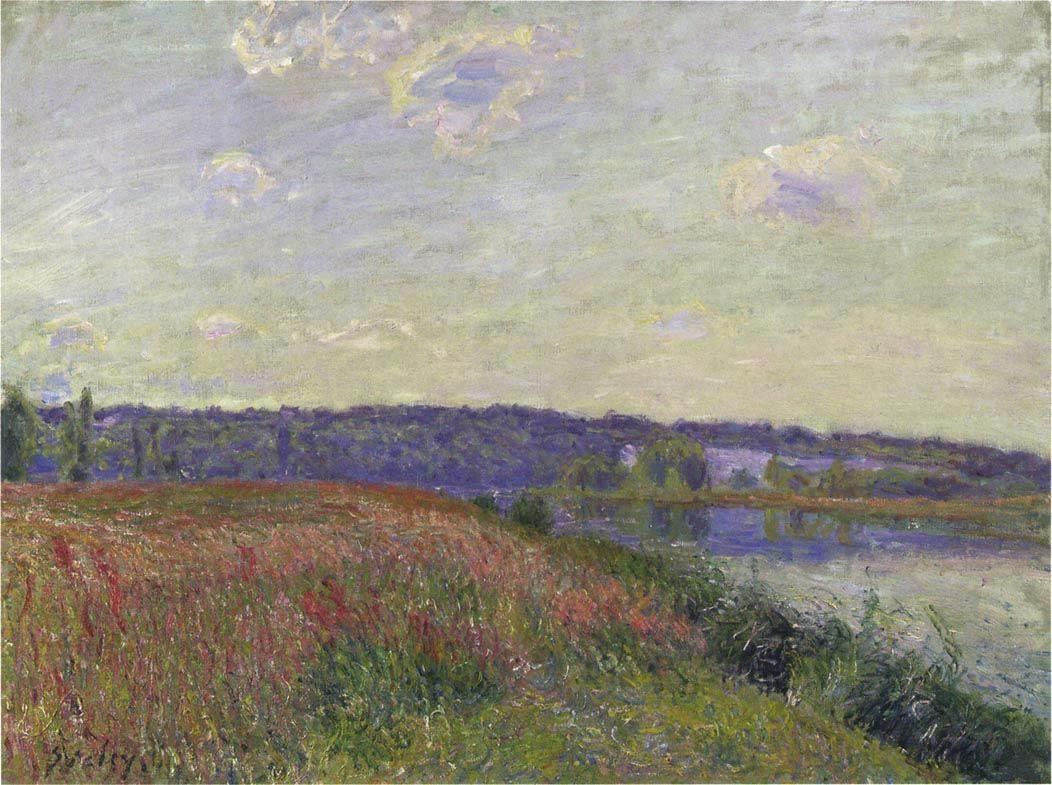 The Fields and Hills of Veneux Nadon - Alfred Sisley
