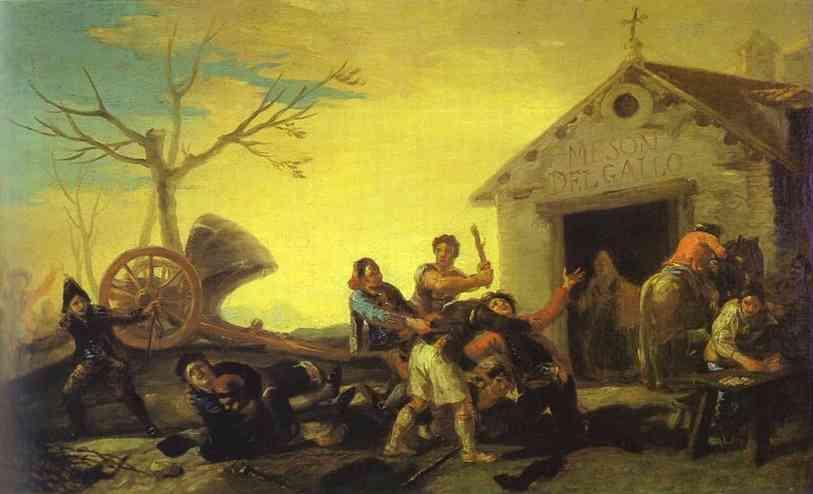 The Fight at the Venta Nueva - Francisco Goya
