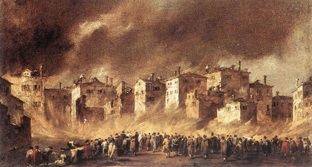 The Fire at San Marcuola - Francesco Guardi