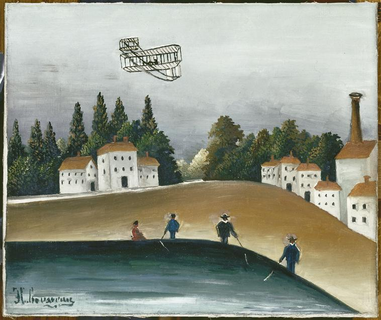 The Fishermen and the Biplane - Henri Rousseau