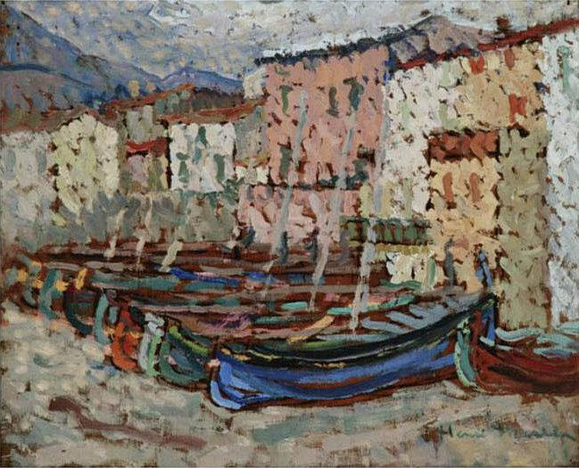The Fishing Boats on the strike in Collioure - Henri Martin