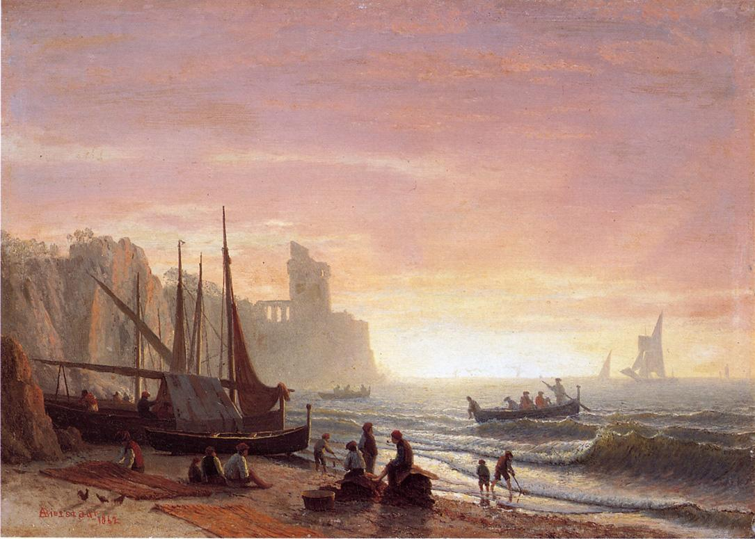 The Fishing Fleet - Albert Bierstadt