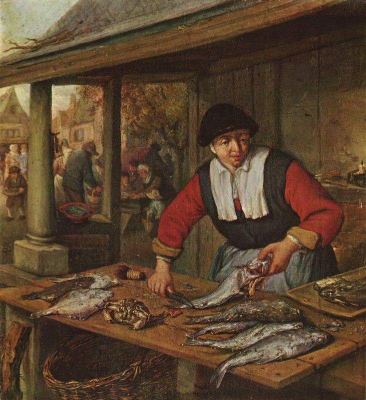The Fishwife - Adriaen van Ostade
