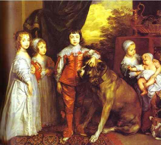The five eldest children of Charles I - Anthony van Dyck