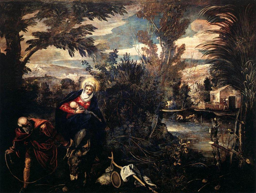 The Flight into Egypt - Tintoretto