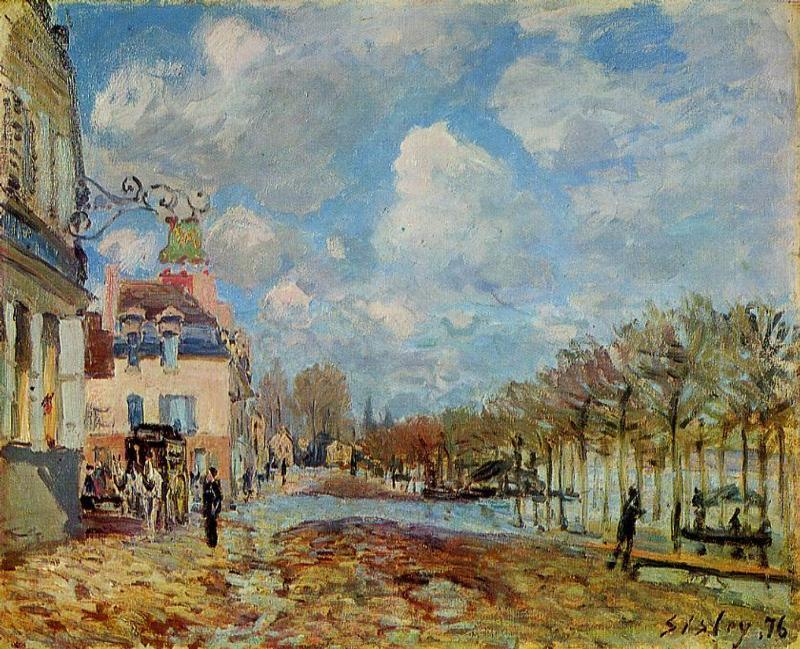 The Flood at Port Marly - Alfred Sisley