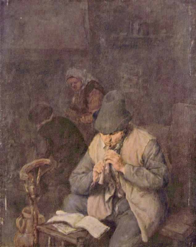 The Flute Player - Adriaen van Ostade