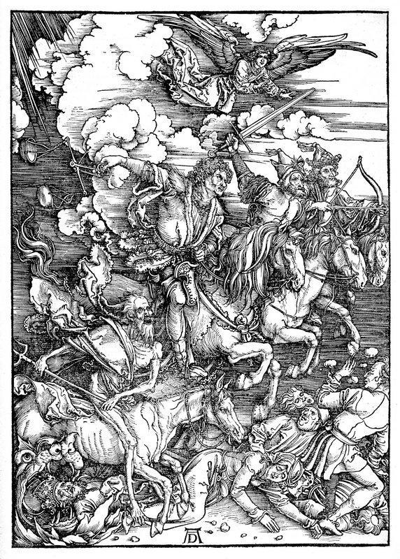 The Four Horsemen of the Apocalypse, Death, Famine, Pestilence and War - Albrecht Durer