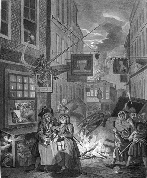 The Four Times of Day: Night - William Hogarth