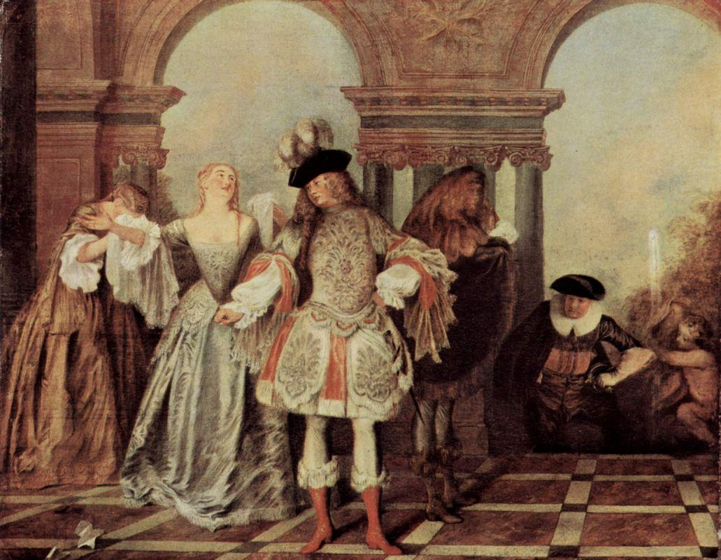 The French Comediants - Antoine Watteau