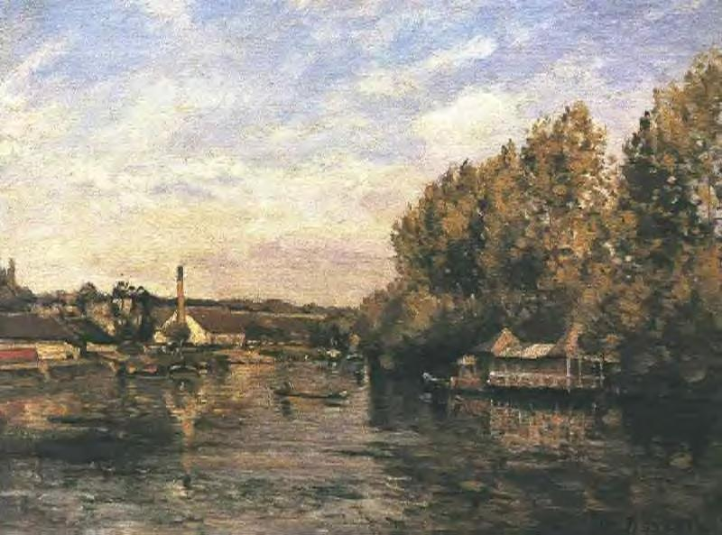 The froggybog at Bougival - Camille Pissarro