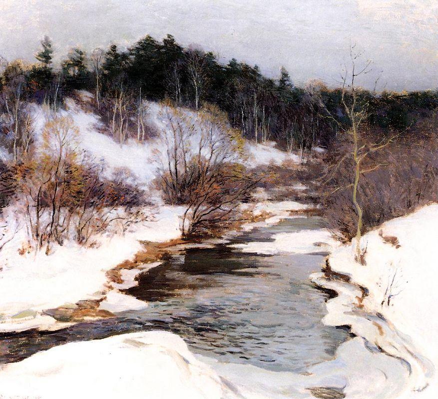 The Frozen Pool, March - Willard Metcalf