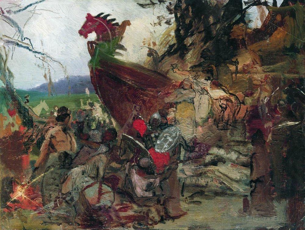 The Funeral of Ruz in Bulgar - Henryk Siemiradzki