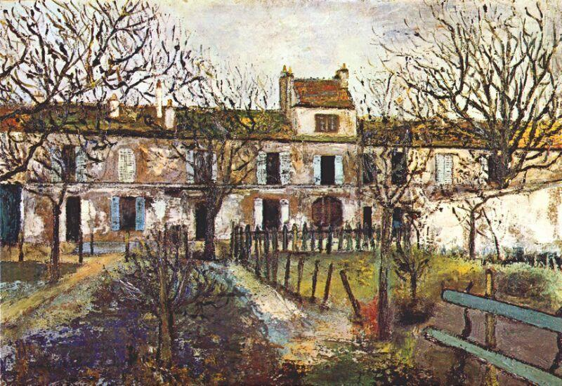 The Garden at Montmagny - Maurice Utrillo