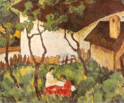 The Garden in Valeni - Nicolae Tonitza
