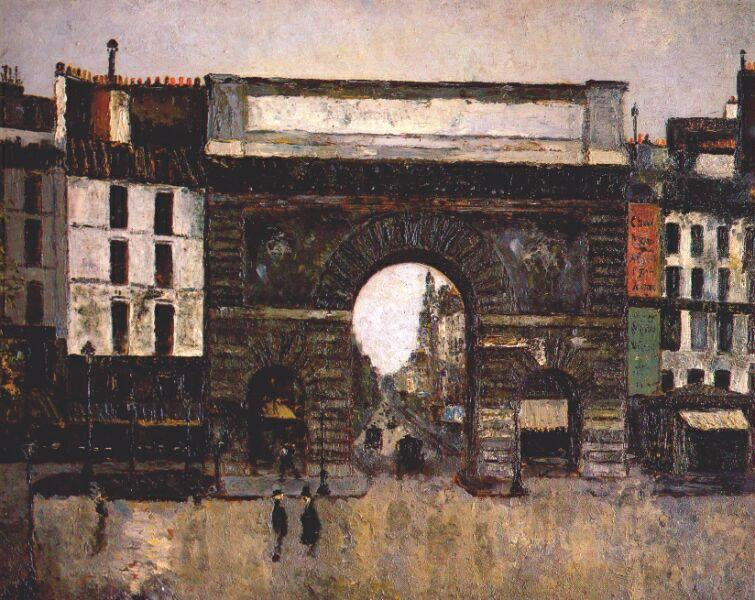 The gate Saint-Martin - Maurice Utrillo
