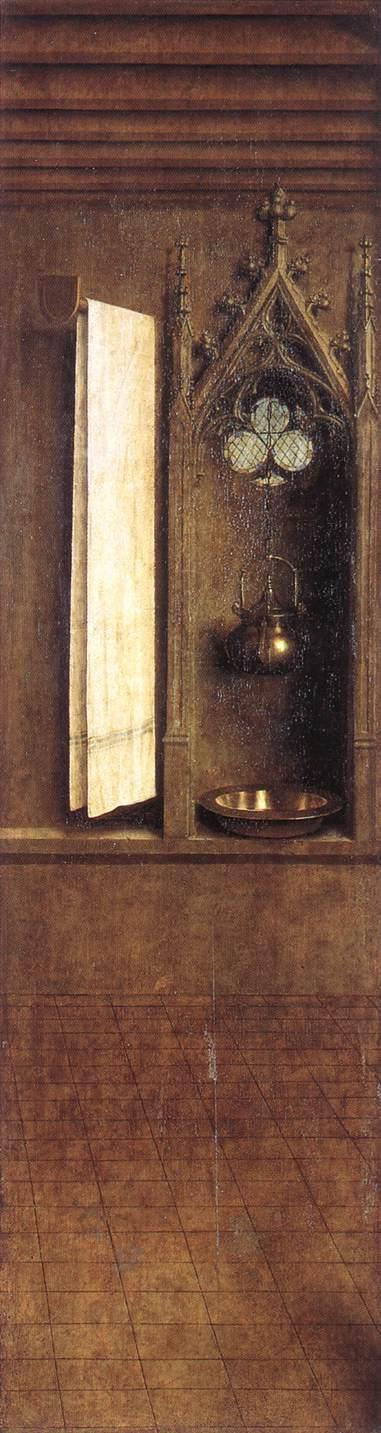 The Ghent Altarpiece, detail from the exterior of the right shutter - Jan van Eyck