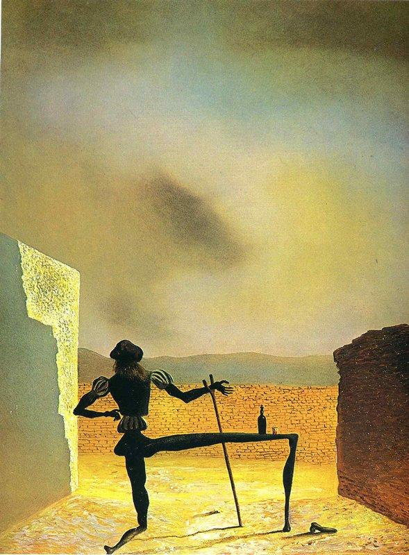 The Ghost of Vermeer van Delft which Can Be Used as a Table - Salvador Dali
