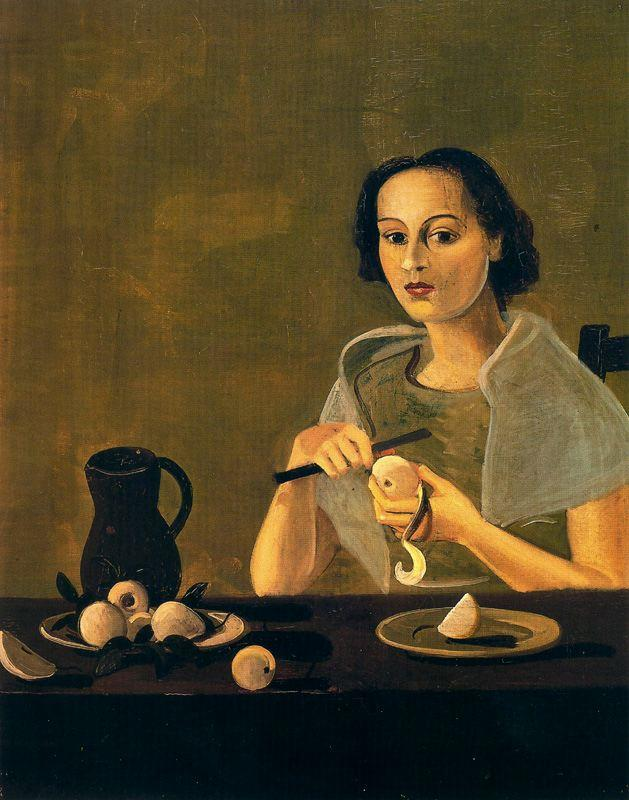 The girl cutting apple - Andre Derain