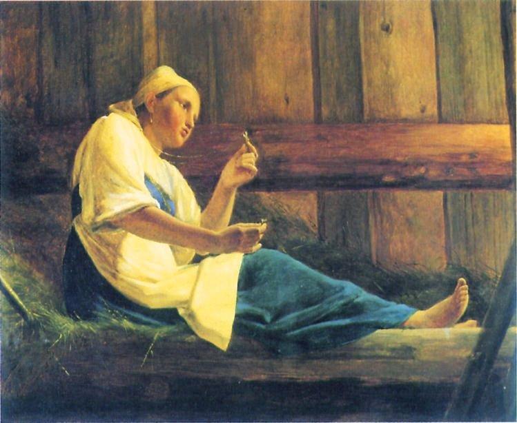 The Girl in the Hayloft - Alexey Venetsianov