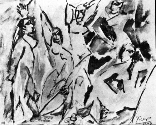The girls of Avignon (study) - Pablo Picasso