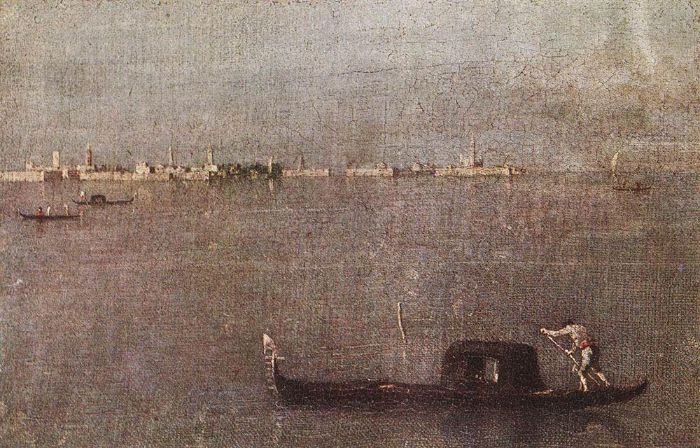 The Gondola on the Lagoon - Francesco Guardi