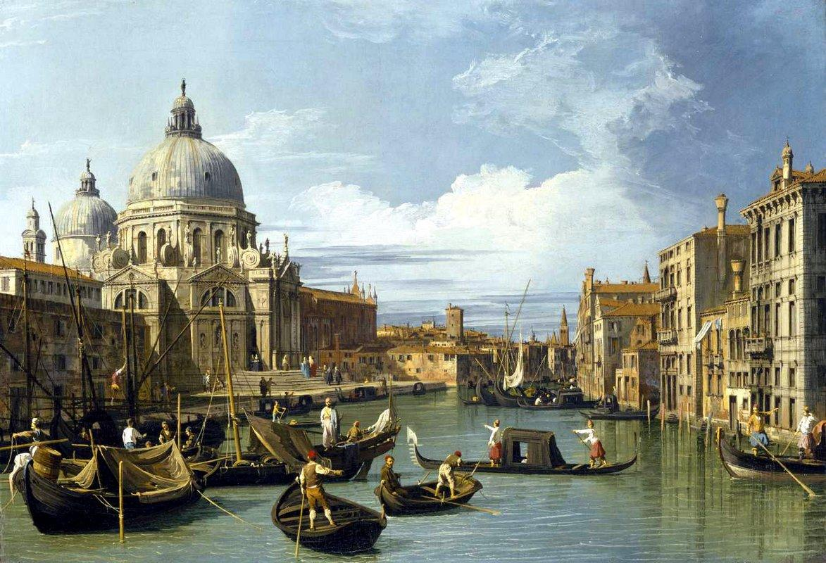 The Grand Canal and the Church of the Salute - Canaletto