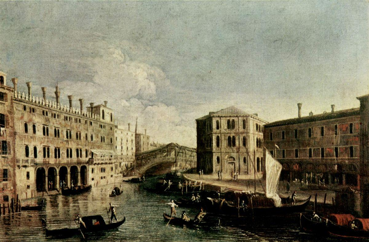 The Grand Canal at Rialto - Canaletto