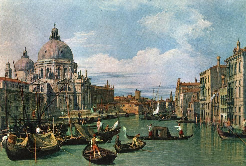 The Grand Canal at the Salute Church - Canaletto