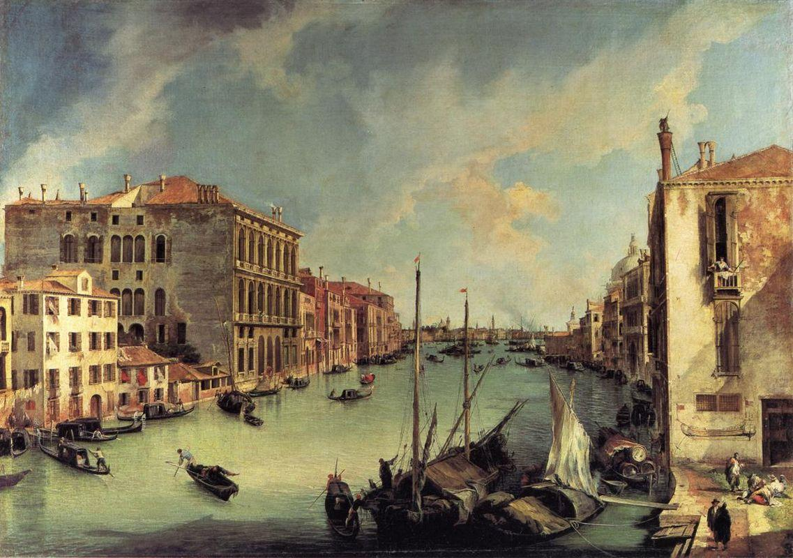 The Grand Canal from the Campo San Vio, Venice - Canaletto