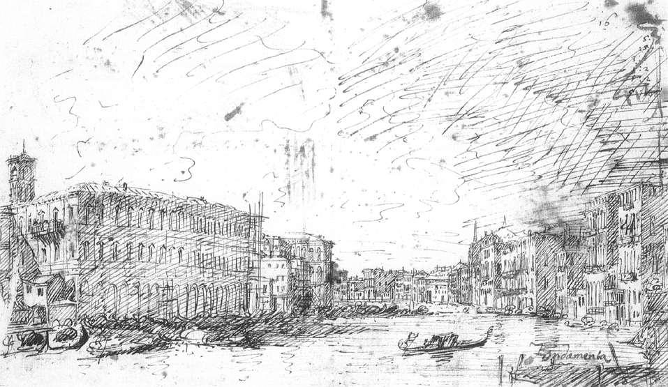 The Grand Canal Seen from Rialto toward the North - Canaletto