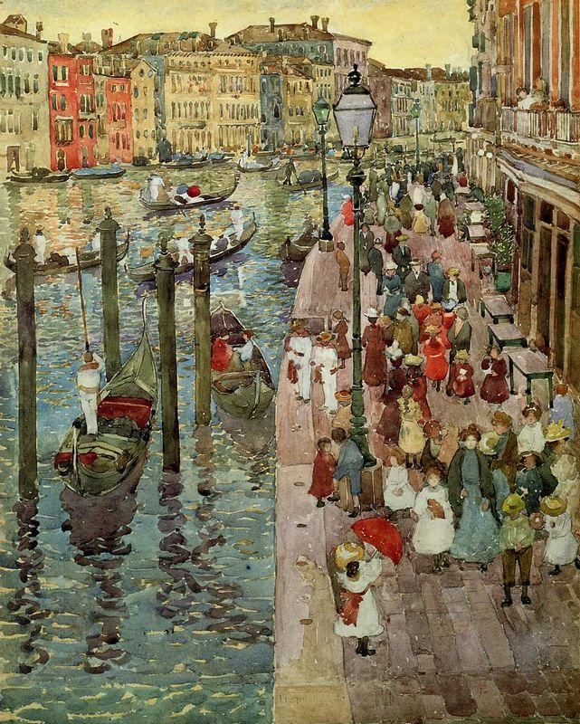 The Grand Canal, Venice - Maurice Prendergast