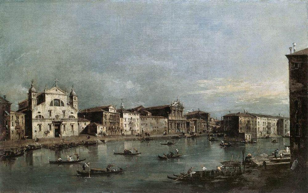 The Grand Canal with Santa Lucia and the Scalzi - Francesco Guardi