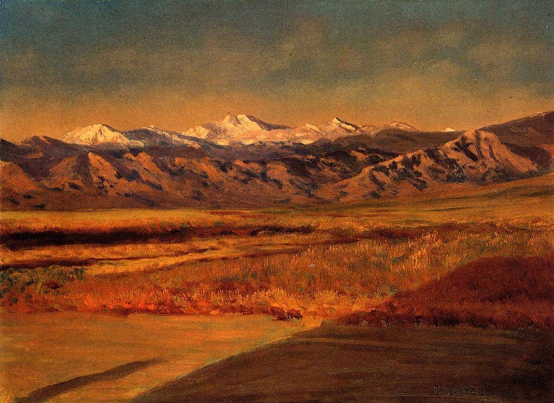 The Grand Tetons, Wyoming   - Albert Bierstadt
