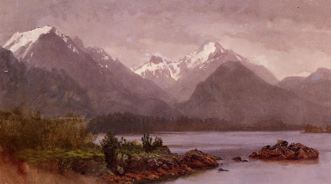 The Grand Tetons, Wyoming - Albert Bierstadt