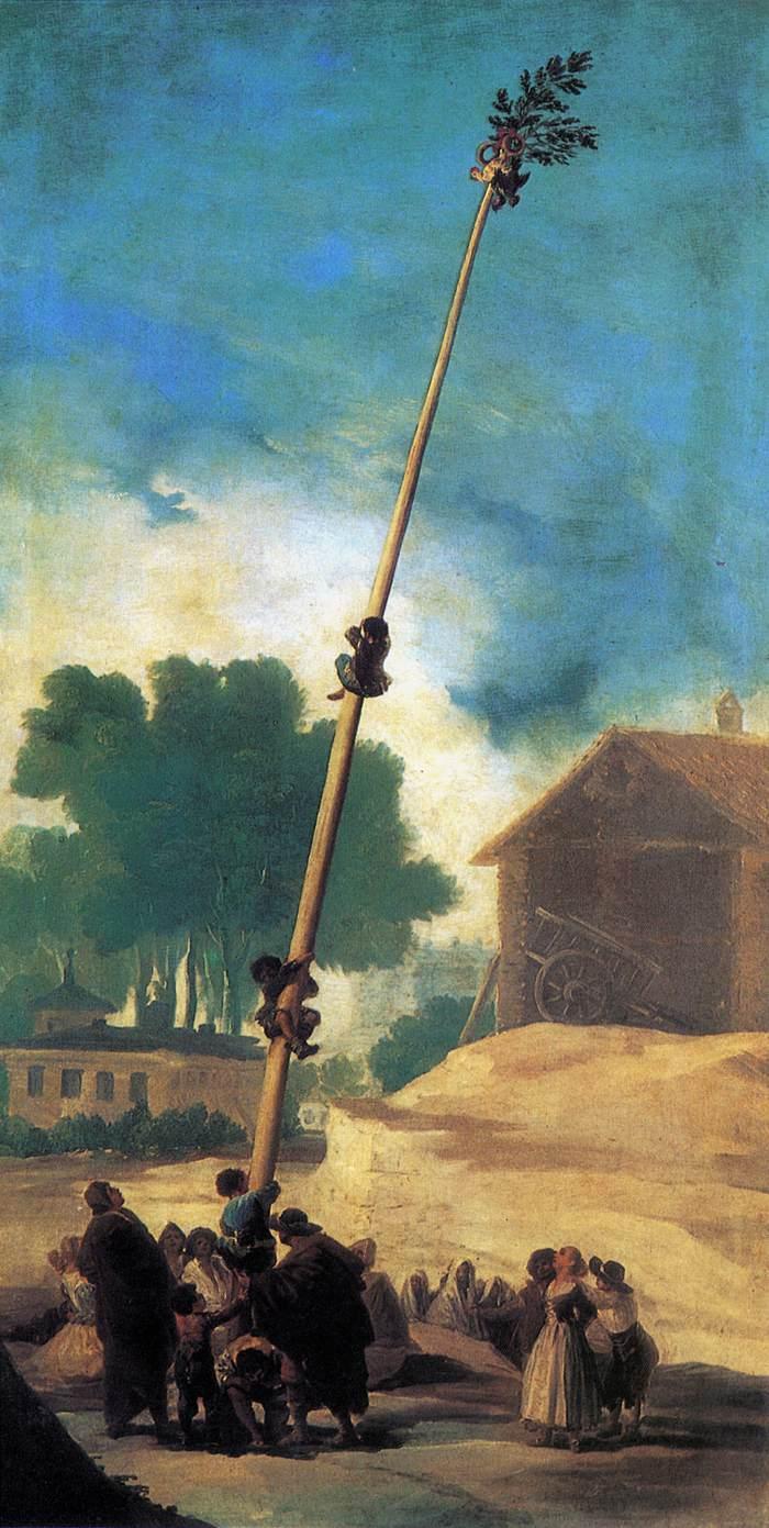 The Greasy Pole - Francisco Goya