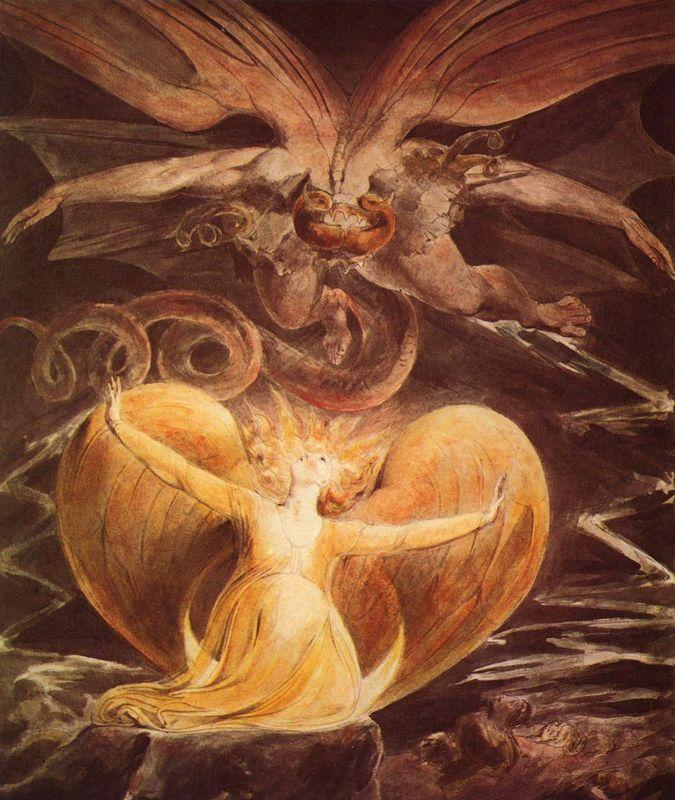 The Great Red Dragon and the Woman clothed with the sun - William Blake