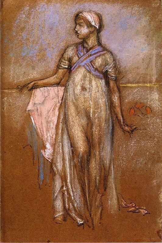 The Greek Slave Girl (or Variations in Violet and Rose) - James McNeill Whistler